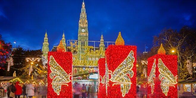 Advent na Jižní Moravě s výletem na vánoční trhy do Vídně či Budapěšti