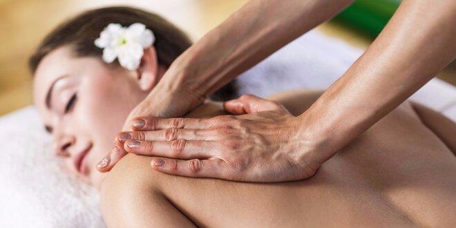 Ruční masáž zad a šíje s možností terapie BioMat