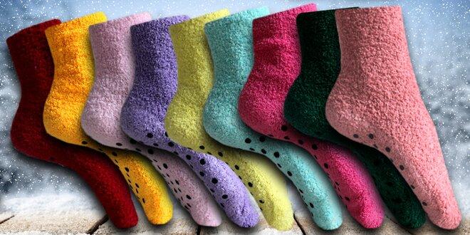 12 párů dámských protiskluzových ponožek