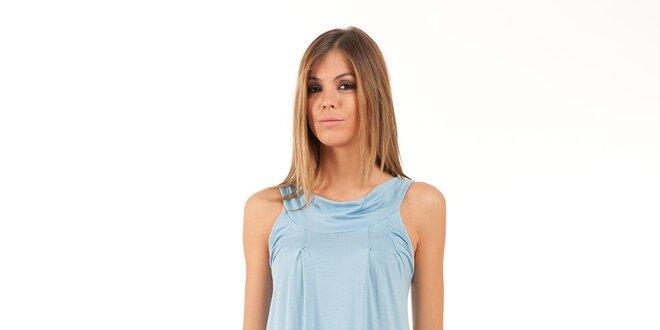77a19394d216 Dámské světle modré šaty s lodičkovým výstřihem Conquista