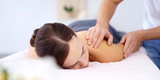Masáž zad a šíje s reflexní masáží chodidel