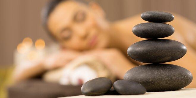45minutová masáž lávovými kameny