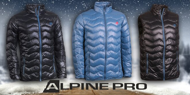Pánské zimní péřové bundy a vesta Alpine Pro  3c43c975c06