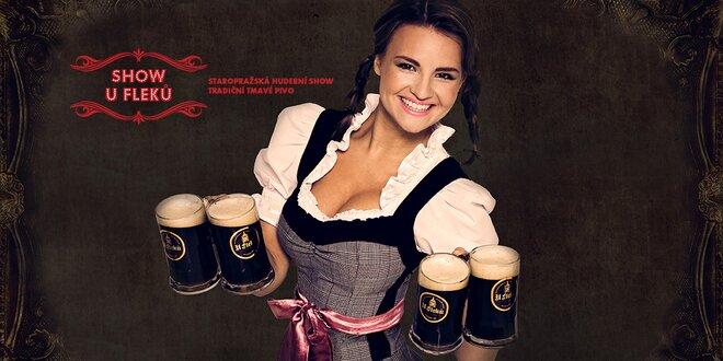 Staropražská hudební show, večeře a tmavé pivo