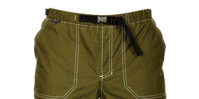 Pánské olivově zelené šortky Hannah
