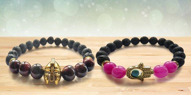 Náramky s kameny pro silné muže a křehké ženy