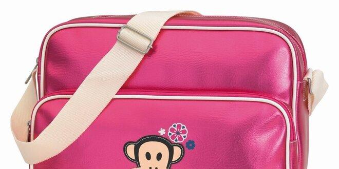 1e2583dc3f41 Růžová taška na notebook s opičkou Paul Frank