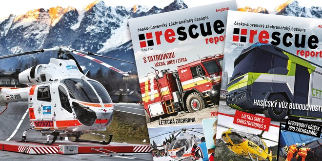 Roční předplatné časopisu Rescue report pro hasiče, záchranáře a další hrdiny