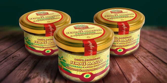 Ghí máslo s bylinkami a chilli habanero