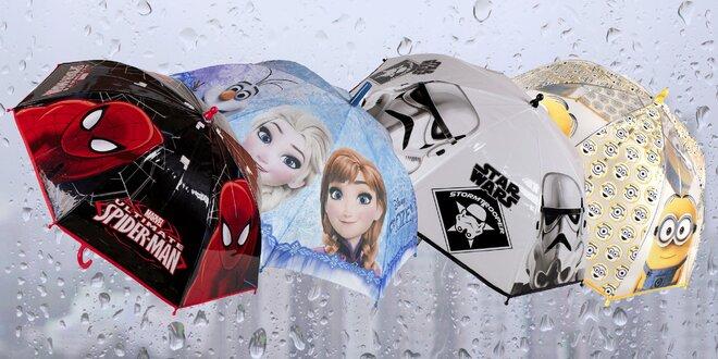 Dětské deštníky s motivy filmových hrdinů