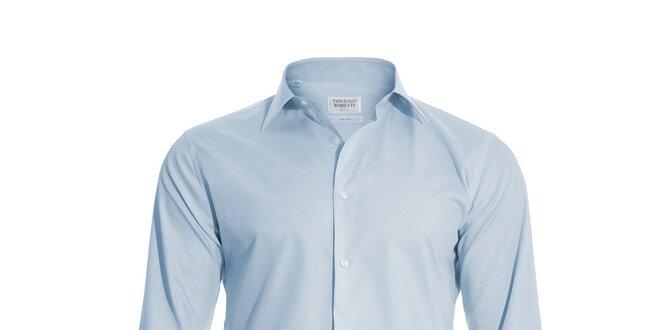 Pánská slim-fit košile na manžetové knoflíčky Vincenzo Boretti ve světle  modré… f4387b08fd