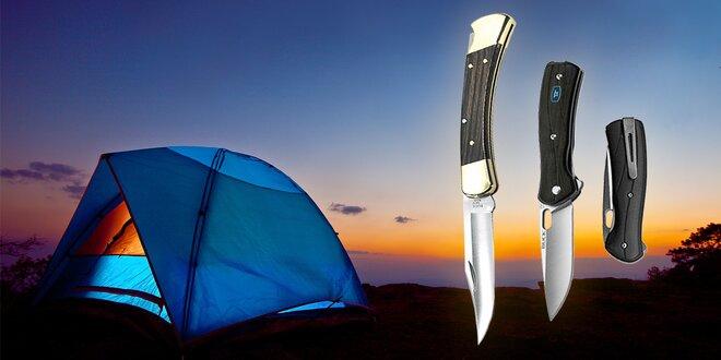 Originální zavírací nože BUCK s ocelovým ostřím