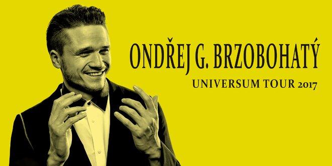 Lístek na koncert Ondřeje Brzobohatého (15. 3.)