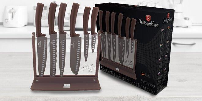 Sada 6 nožů s diamantovým povrchem v design bloku