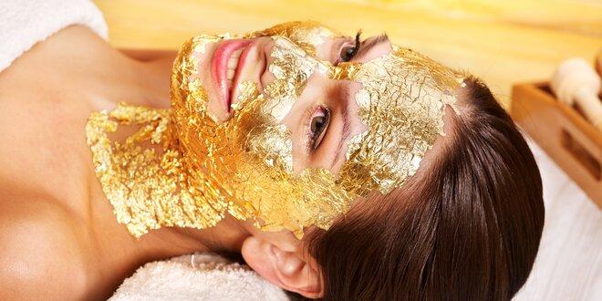 Liftingové ošetření obličeje pravým zlatem