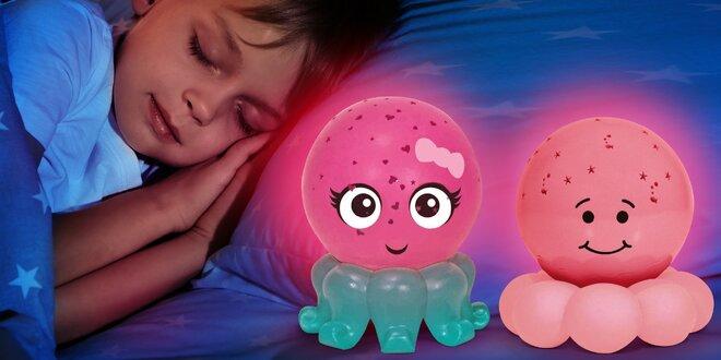 Svítící chobotnička do dětských pokojíčků