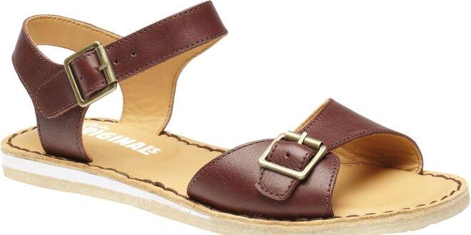 26e786100436 Dámské tmavě hnědé sandále Clarks