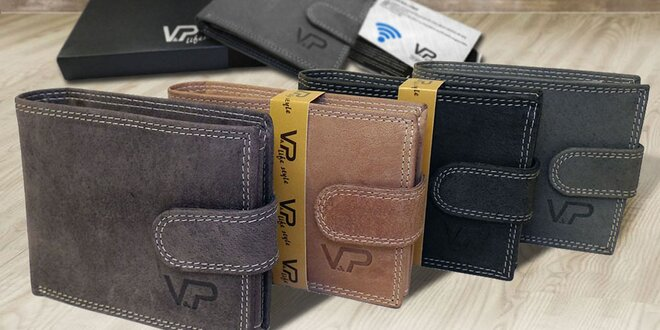 Kožené peněženky OLIVER a pouzdro na karty