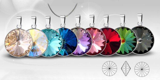 Ocelové náhrdelníky Rivoli Unique s krystaly Swarovski
