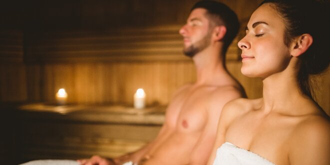 Relax ve vyhřáté finské sauně pro 2 pohodáře