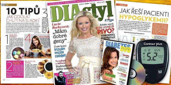 Roční předplatné časopisu DIAstyl s glukometrem a dárky