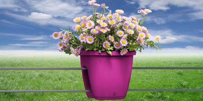 Balkonové květináče Emsa na zábradlí