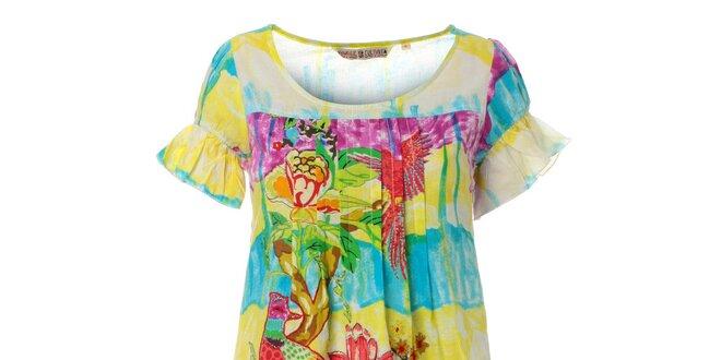 8d2ba064dc2c Dámské krátké pestrobarevné šaty Savage Culture s volánky
