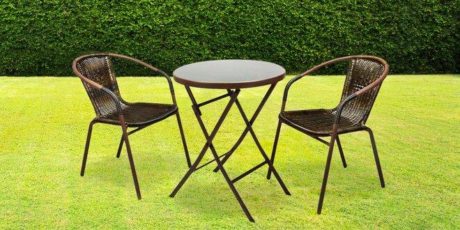 Set zahradních židlí a stolu