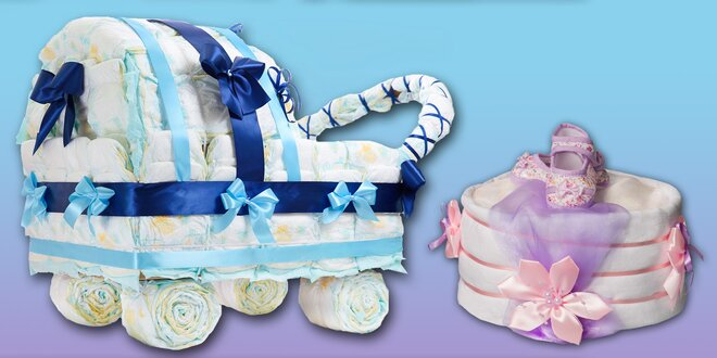 Krásný plenkový dárek pro nastávající maminky