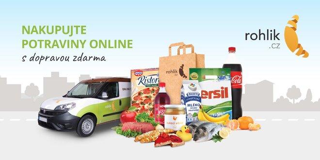 300 Kč na nákup v online obchodě Rohlik.cz