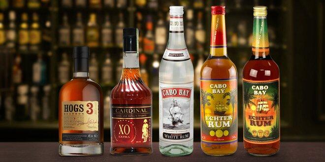 Láhev znamenitého alkoholu dle výběru