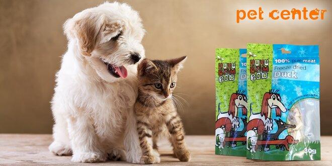 2 balení pamlsků Huhubamboo pro psy a kočky