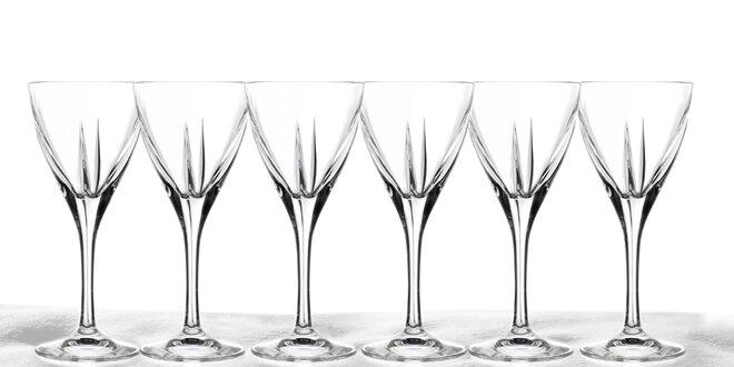 6 krásných sklenic z křišťálového skla