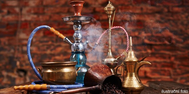 Dýchánek v čajovně: vodní dýmka a dva nápoje