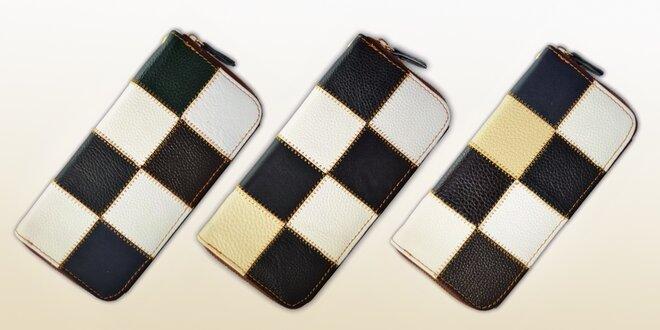 Patchwork peněženky z barvené kůže