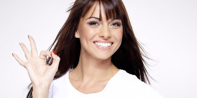 Kosmetické šetrné neperoxidové zesvětlení zubů