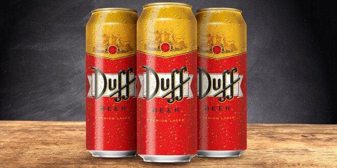 Homerovo oblíbené pivo Duff v plechovkách