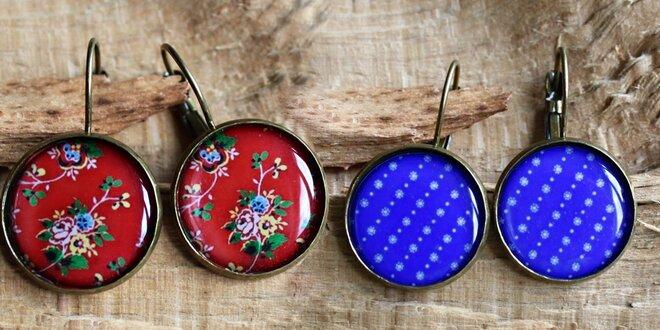Ručně vyráběné náušnice s folklorními motivy