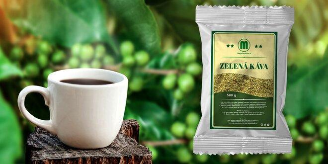 Zelená pro vaši energii: mletá nepražená káva