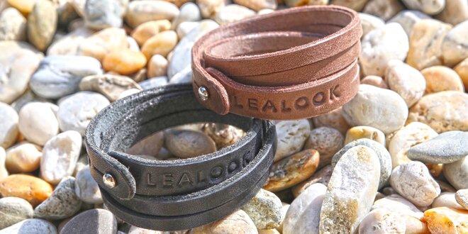 Ručně vyráběné kožené náramky Lealook