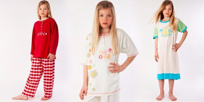 Roztomilé dívčí noční košilky nebo pyžámka