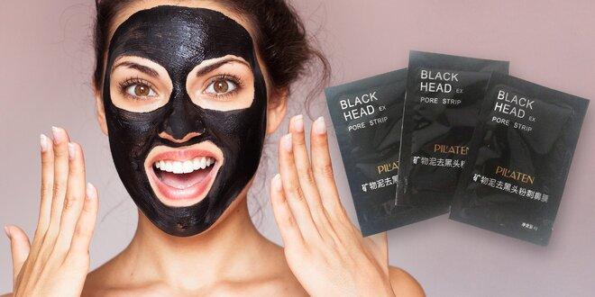 Pleťové masky značky Pilaten s bambusovým uhlím