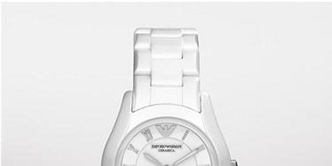 da6451f7862 Dámské sportovní hodinky Emporio Armani z bílé keramiky