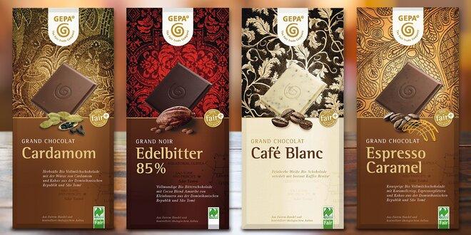 Fair Trade bio čokolády pro fajnšmekry