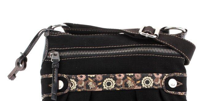 Dámská černá textilní kabelka Fossil