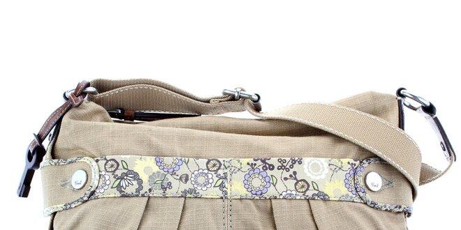 Dámská béžová textilní kabelka Fossil
