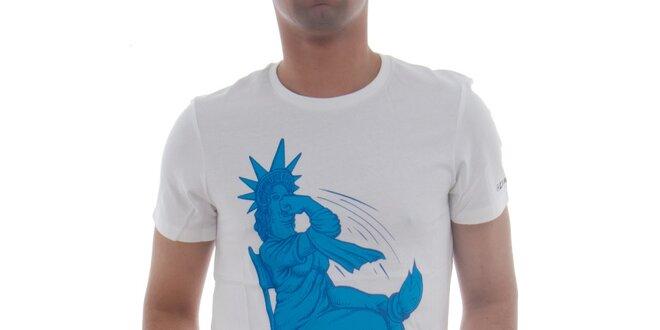 Pánské bílé tričko Zoo York s vtipným potiskem