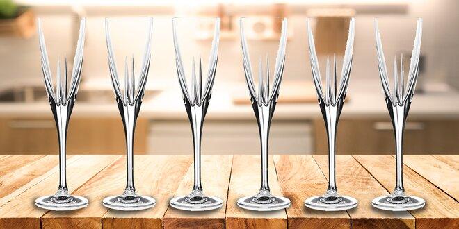 6 křišťálových sklenic na šampaňské - RCR Italy