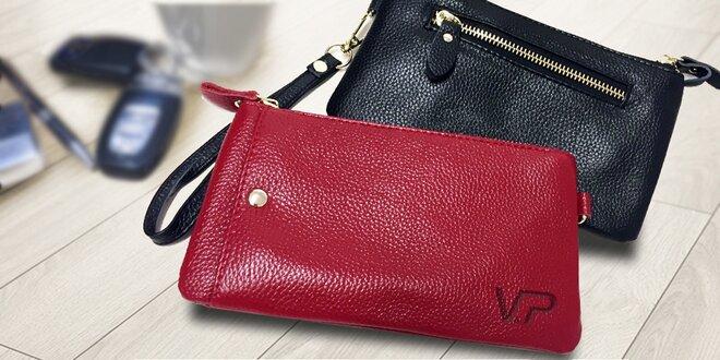 Elegantní kožená peněženka a psaníčko v jednom