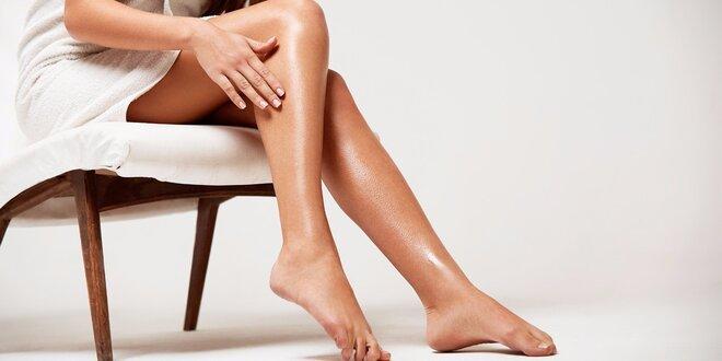 Šetrná depilace teplým voskem - Celé nohy